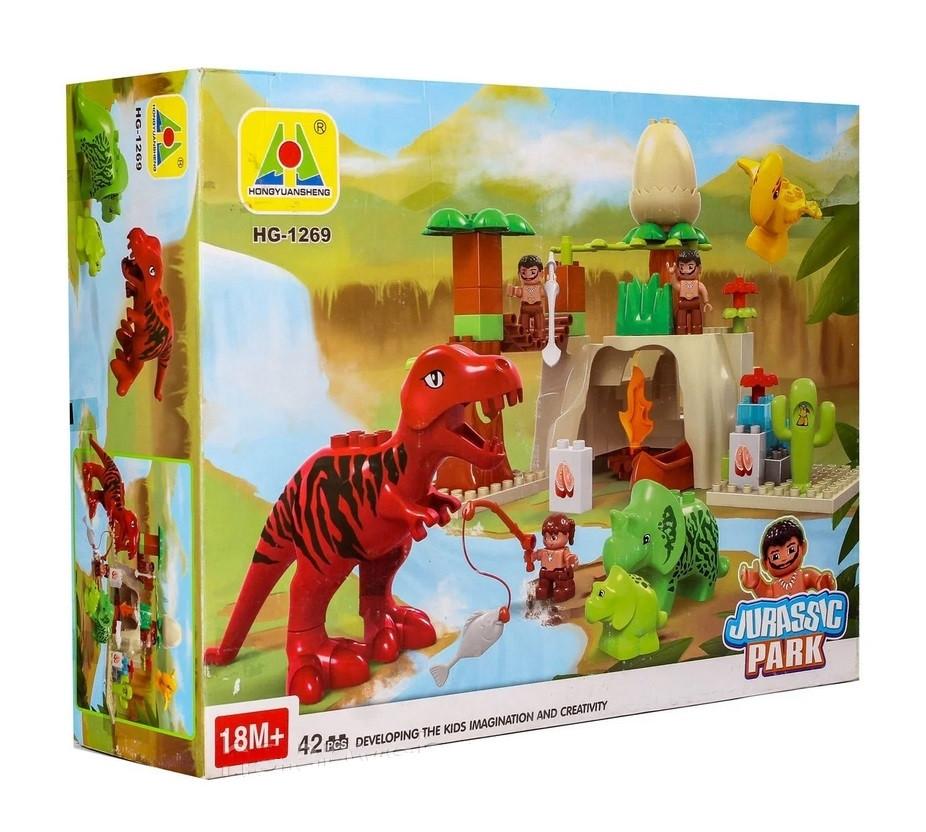 """Конструктор HOGS HG-1266 """"Долина динозавров"""" (Аналог Лего 5598)"""