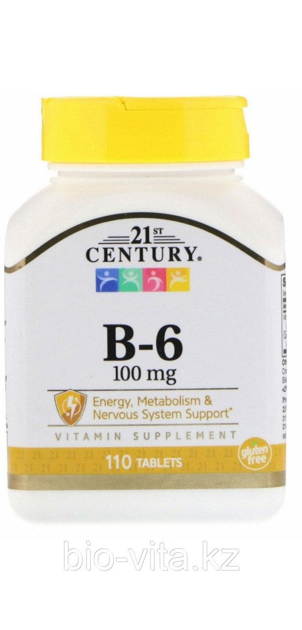 B-6, 100 мг, 110 таблеток. 21 century