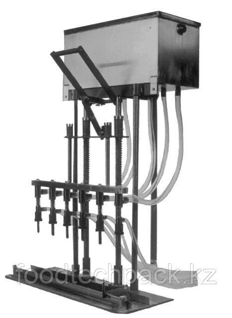 Настольное оборудование PERL LPGT-6-PVC для разлива  химически агрессивных жидкостей  (6 дозировочные головки)