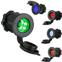 Авто-розетка гнездо прикуривателя с подсветкой на 12 и 24 вольта
