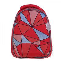 Рюкзак каркасный Calligrata, 37 x 28 x 19 см, для девочки, «Геометрия» + мешок для обуви