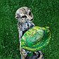 """Садовая фигура """"Парочка сурикатов"""", бежевая, 33 см, фото 4"""