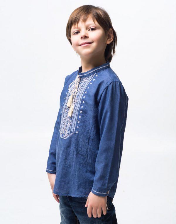 Вышиванка для мальчика Дубова Гилка батист - фото 3