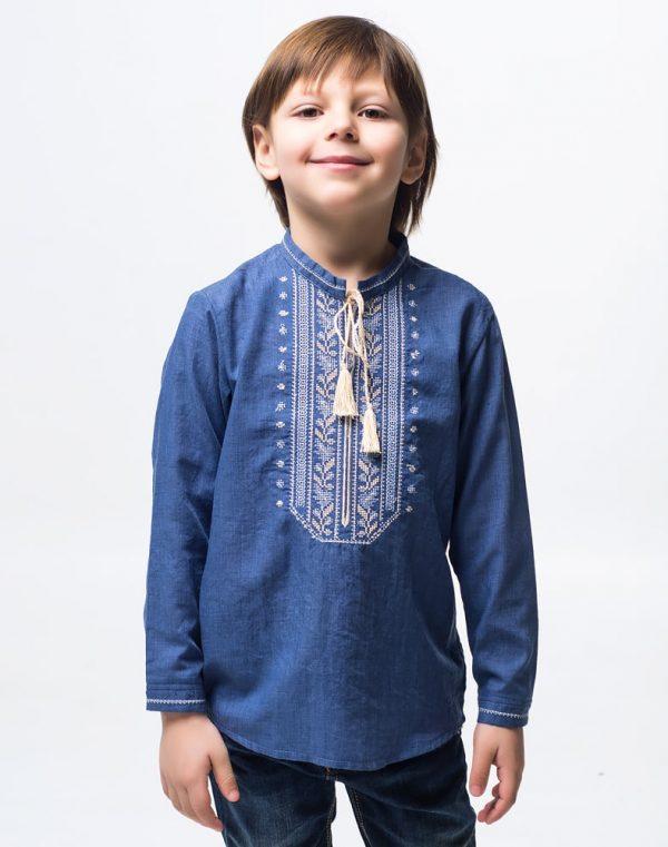 Вышиванка для мальчика Дубова Гилка батист - фото 1