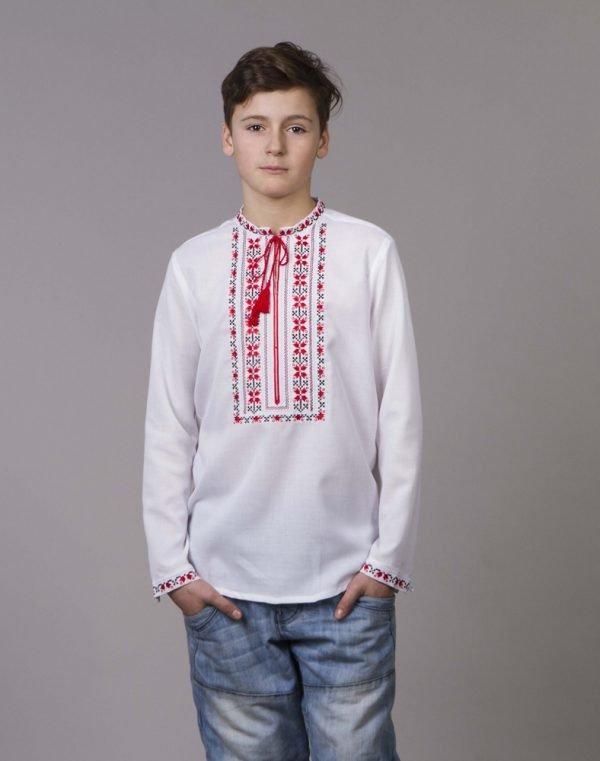 Вышиванка для мальчиков Алатир ДР хлопок длинный рукав - фото 1