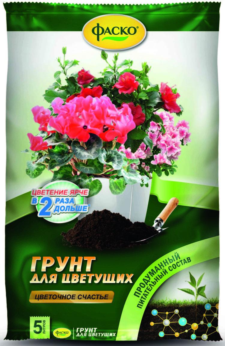 """Почвогрунт для цветущих """"Цветочное счастье"""", 5 л"""