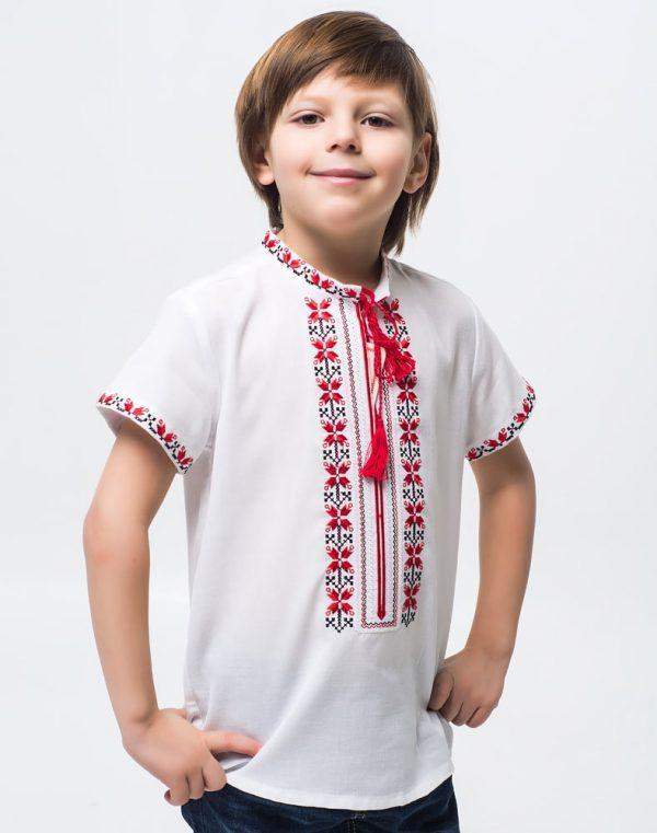 Вышиванка для мальчиков Алатир ДР хлопок короткий рукав - фото 1