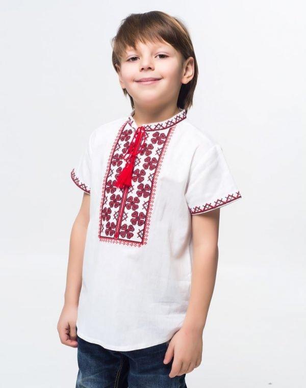 Вышиванка для мальчиков Васильок ДР хлопок короткий рукав - фото 1