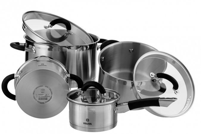 Набор посуды VINZER Progresso 89021 (9 пр.)