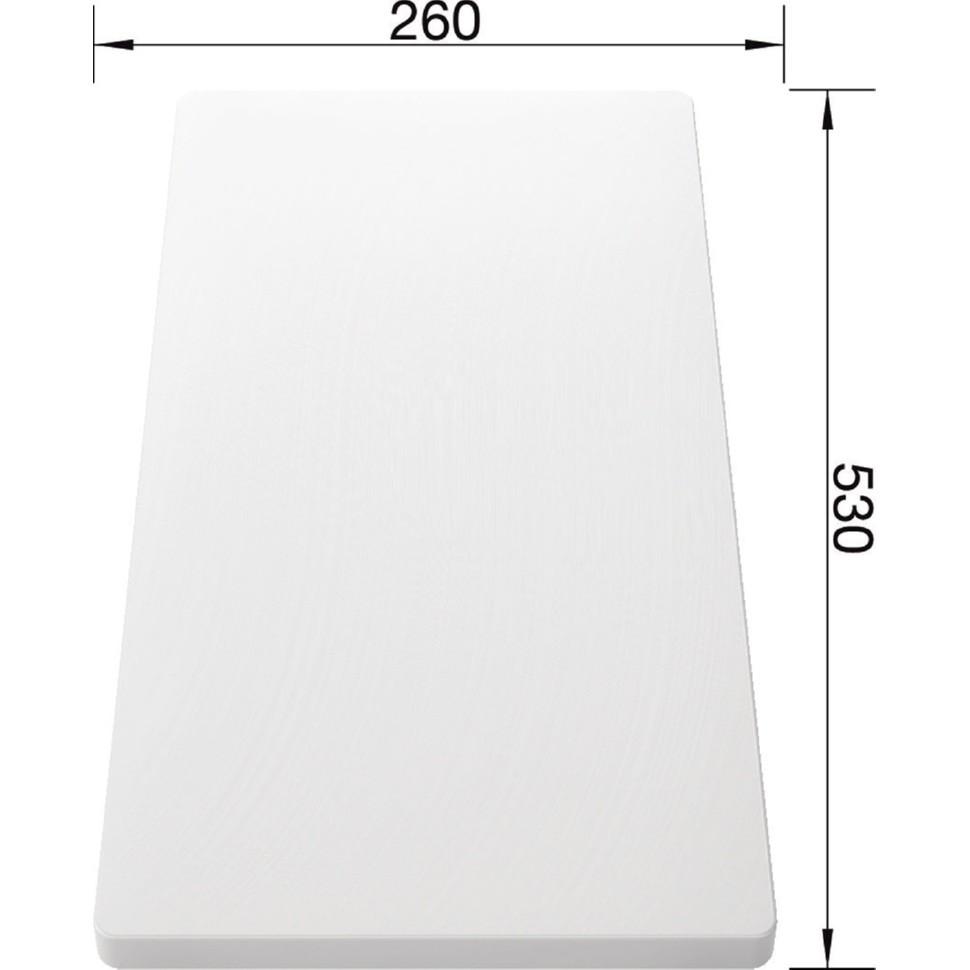 Разделочная доска BLANCO белый пластик 530*260мм