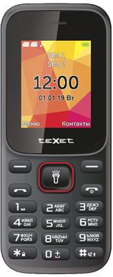 Мобильный телефон Texet TM-124 черный-красный
