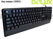 Клавиатура проводная USB Delux DLK-6700UB  черная