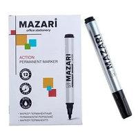 Маркер перманентный 2мм круглый красный Mazari M-5007