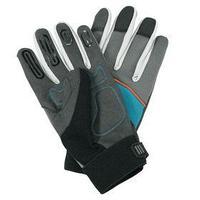 Перчатки текстильные, с замшевыми ладонями, размер 8