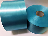 Текстильная сатиновая (Атласная) Голубая лента 100мм/200м