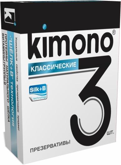 Презервативы KIMONO (классические) 3 шт.