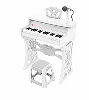 Детские Пианино со стульчиком и микрофоном 328 белый, фото 1