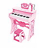 Детское пианино со стульчиком и микрофоном 328 розовый