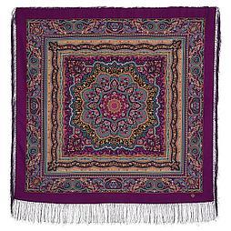 Павлопосадский платок Северное сияние 1625-4 (110х110 см)
