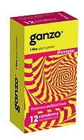 Презервативы GANZO EXTASE №12 (анатомические с точечной и ребристой текстурой)