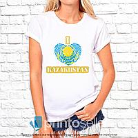 """Футболка с принтом женская """"Kazakhstan"""" M"""
