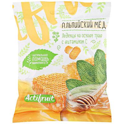 АКТИФРУТ леденцовая карамель с витамином С со вкусом альпийского меда 60г