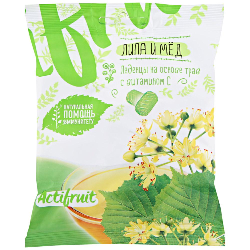 АКТИФРУТ леденцовая карамель с витамином С со липы с медом  60г