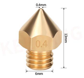 Сопло для 3D принтер ( MK8--0.4 мм ) 2 pcs