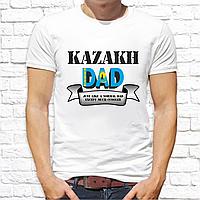 """Футболка с принтом мужская """"Kazakh dad"""""""