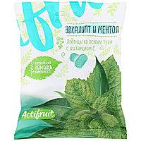 АКТИФРУТ леденцовая карамель с витамином С со эвкалиптом и ментолом 60г