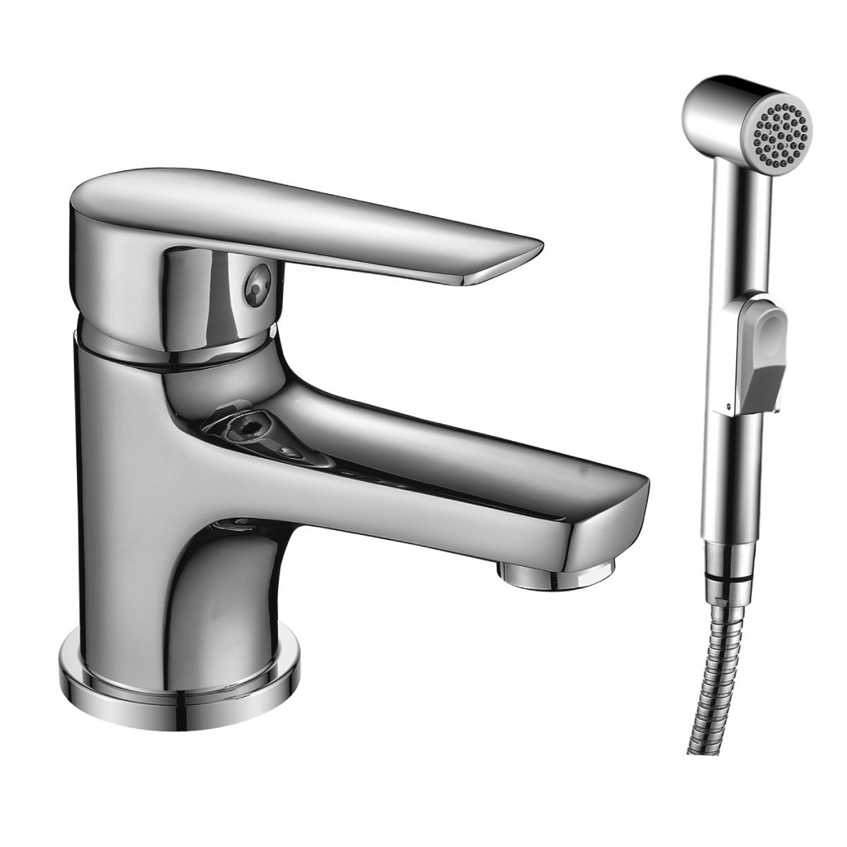 Смеситель Rossinka Silvermix S35-15 с гигиеническим душем