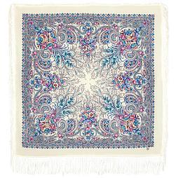 Павлопосадский платок Март 904-4 (110х110 см)