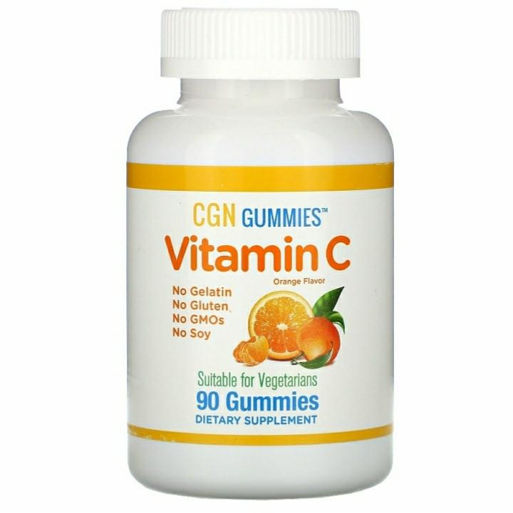 Витамин C для детей, натуральный апельсиновый вкус, без желатина, 90 жевательных таблеток