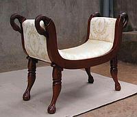 Мебель из массива дерева банкетка