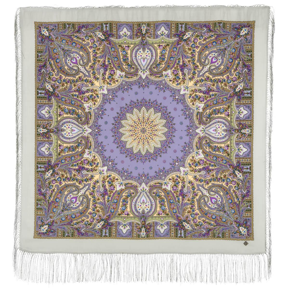 Павлопосадский платок Дикий мед 1712-4 (110х110 см)