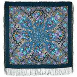 Павлопосадский платок Страна чудес 1624-9 (110х110 см), фото 3