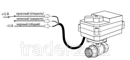 "Кран шаровый с электроприводом Neptun Bugatti Pro 12В 3/4"", фото 2"