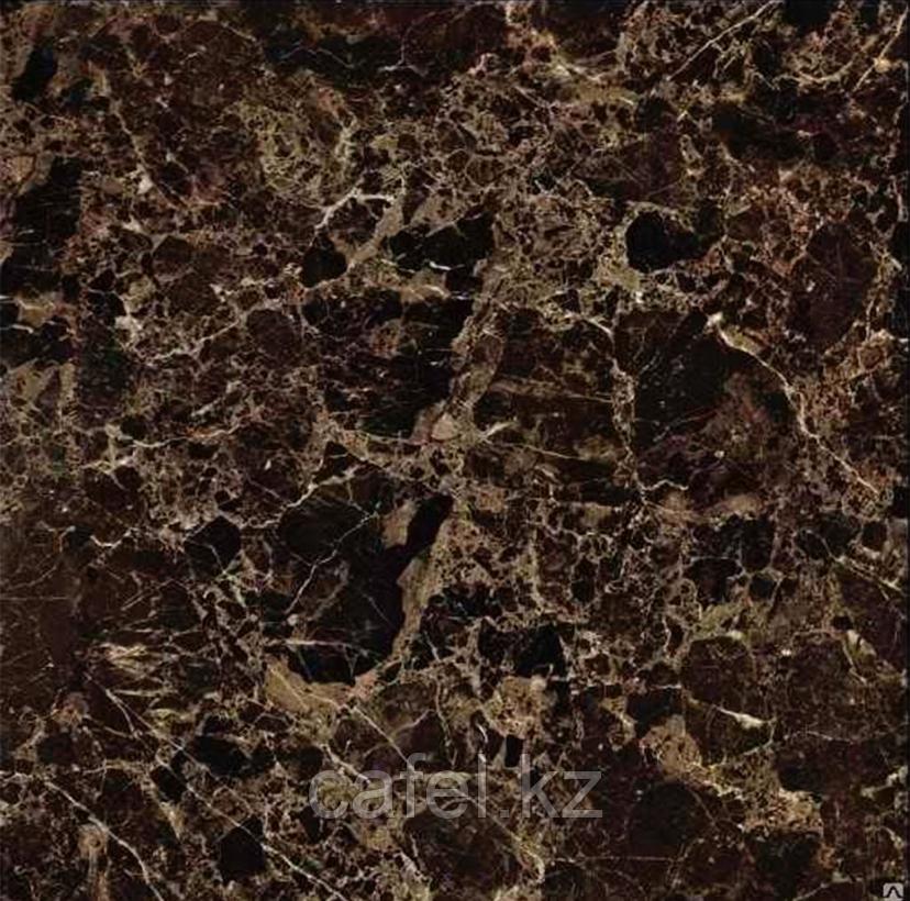 Керамогранит 60х60 под коричневый мрамор с бежевыми разводами