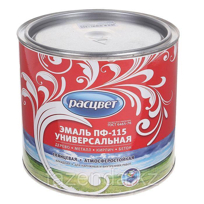 Эмаль Расцвет пф-115 глянцевая ,серая, 2,7кг
