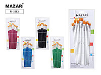 Набор кистей 12шт плоские Mazari M-5143 синтетика