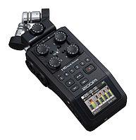 Портативный аудио рекордер на 6 дорожек, с цветным дисплеем и 4-мя микрофонными/линейными входами, ZOOM H6 Bla