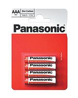 Батарейка солевая PANASONIC Red Zinc ААА 4B (4 шт)