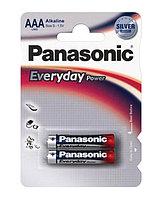 Батарейка щелочная PANASONIC Every Day Power AAA 2B (2 шт)