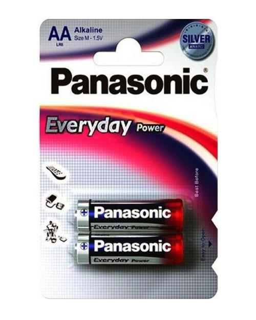 Батарейка щелочная PANASONIC Every Day Power AA 2B (2 шт)