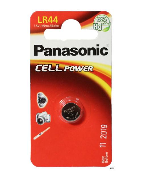 Батарейка дисковая литиевая PANASONIC LR-44 1B (1 шт)