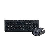 Комплект Клавиатура + Мышь, Delux, DLD-6220OUB, Оптическая Мышь, USB