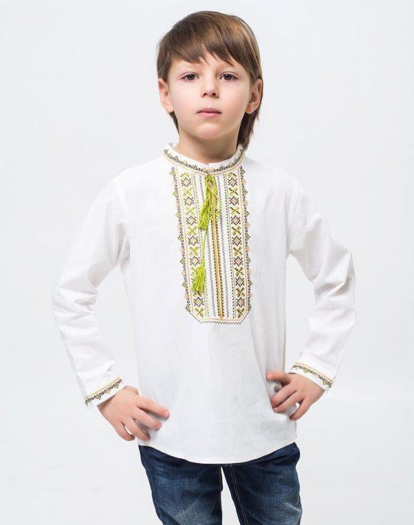 Вышиванка для мальчиков Дубочок ДР хлопок длинный рукав - фото 2