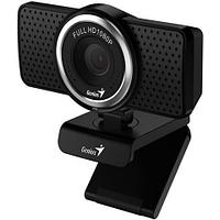 GENIUS ECam 8000, black, Full-HD 1080p webcam, swiveling, tripod-ready design, USB, built-in microphone,