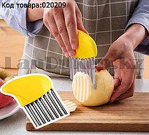 Волнистый нож для овощей фруктов фри слайсер гофрированный нож из нержавеющей стали