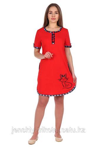 Собственное производство Туника-платье женское кулирка 2.62
